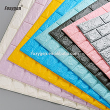 Easy-cleaning 3D Brick PE Foam Wall Panel New Design Living Room interior PE Foam Wall Tile 3D Wallpaper