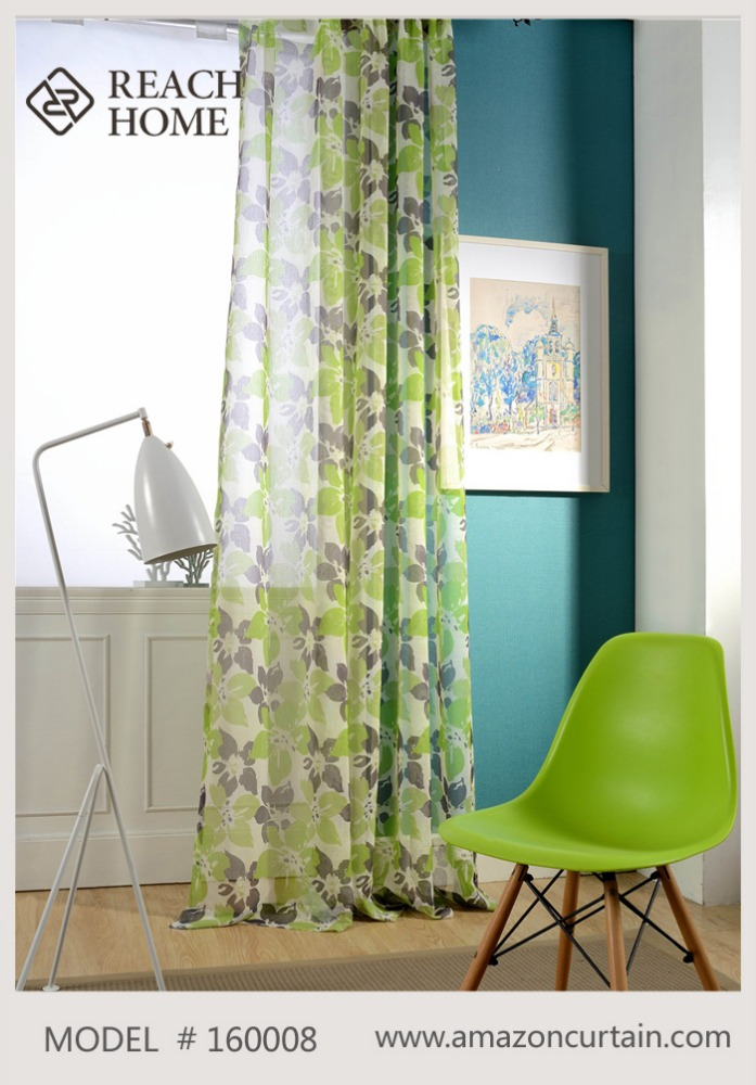 America style flower classic jacquard cutting Blackout curtains for living room