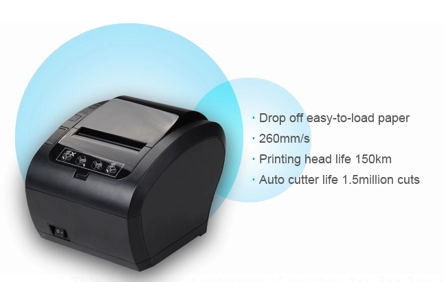 80MM Pos Thermal Receipt Printer  with Lan Usb Serial Port Wifi
