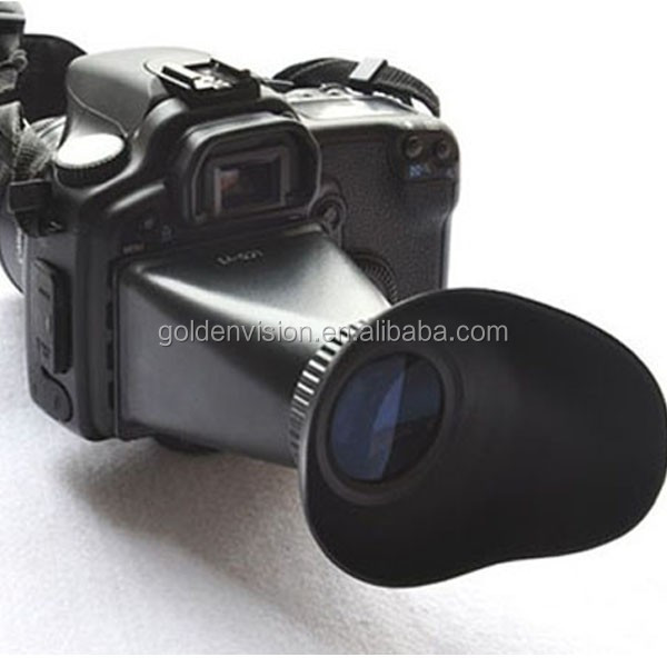 V1 2.8X Magnifier Magnetic LCD Viewfinder Hood For Canon 5DII 7D 500D Camera Use