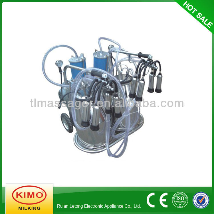 Piston-typed double-barreled Mobile Milking Machine