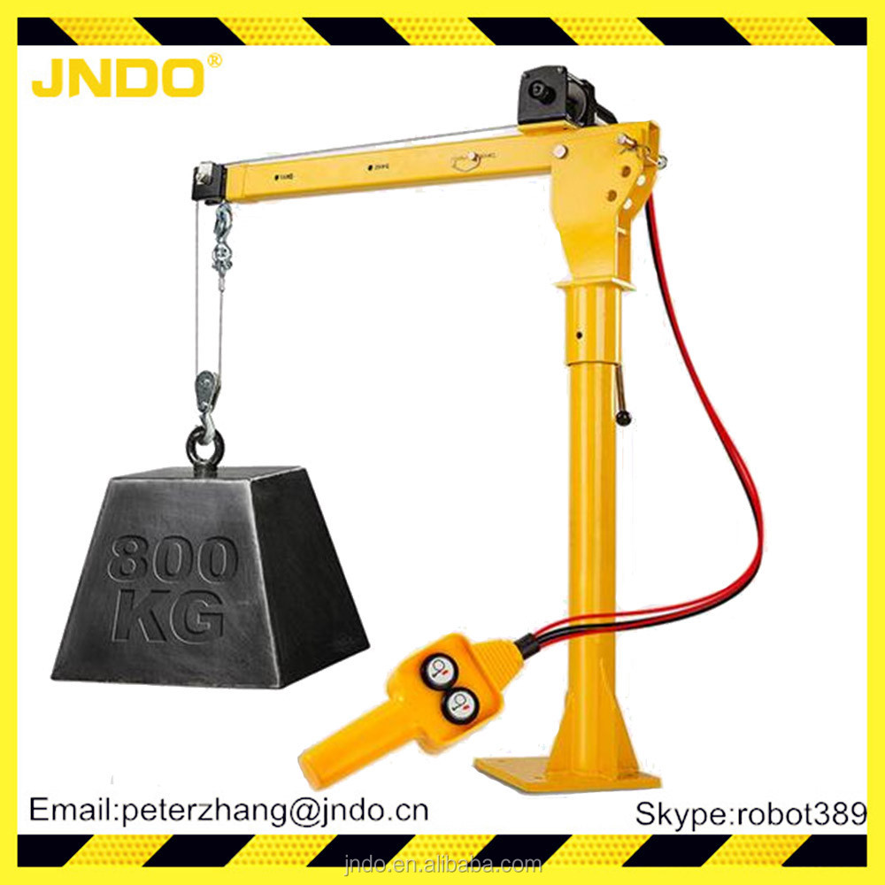 12/24v electric mini Swivel Shop lifting Crane with electric winch