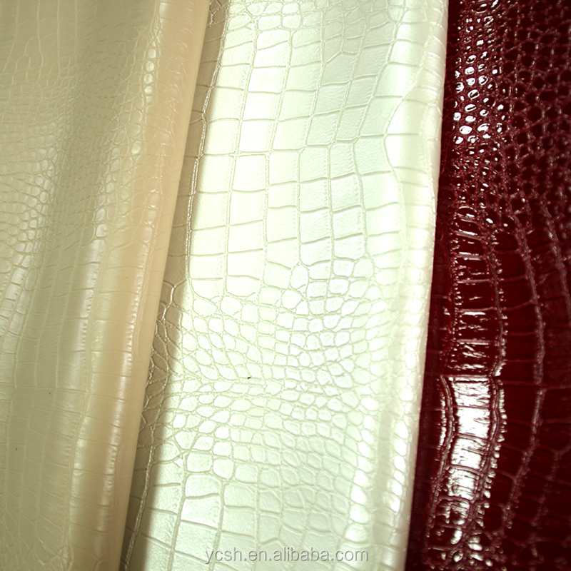 china artificial faux crocodile skin leather for lady handbags shoes