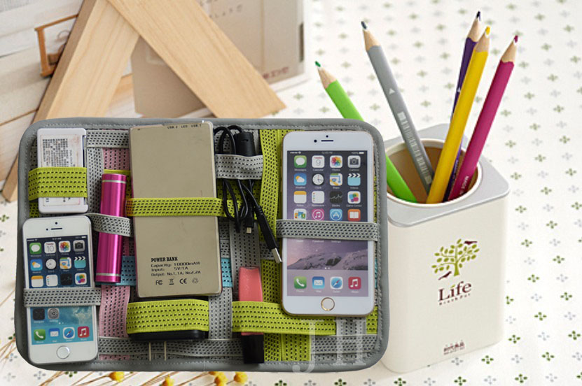 High Quality Elastic Organizer Travel Cable Organizer Gadget Organizer