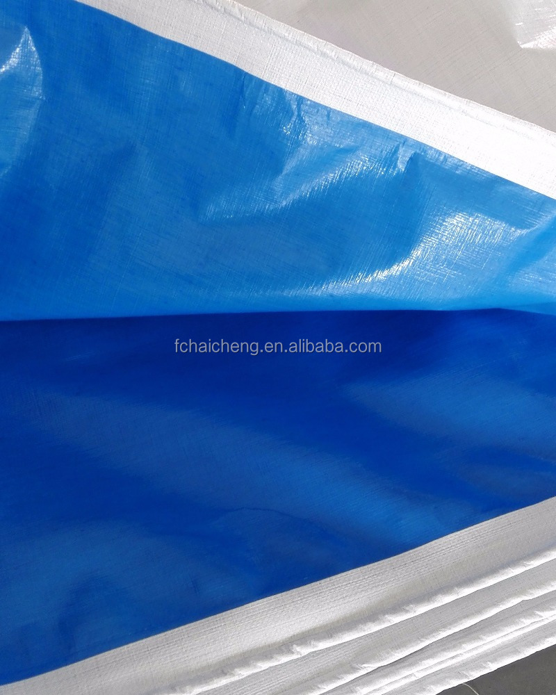 200gsm high quality PE tarpaulin sheet blue/white reinforced tarpaulin