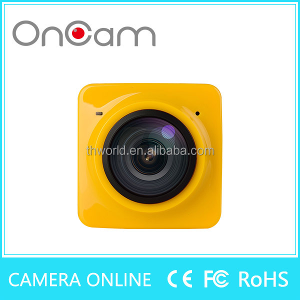 Shenzhen factory CUBE 360 degree action camera rotation wifi wireless 13.0MP sport camera
