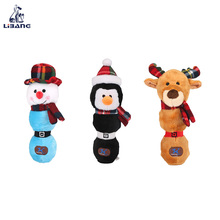 Wholesale Holiday Gifts Plush Pet Toy Snowman And Deer Shaped Christmas Dog Toy