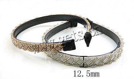 stainless steel glass seed bead hair bands
