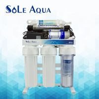 Reverse osmosis drinking water purifier system with UV ultraviolet light sterilizer