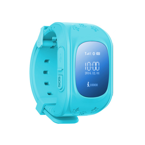 Kids GPS Positioning Watch, W5 Kids GPS Watch with Blue Screen, Real-time Tracking, Remote Monitoring, SOS Emergency Alarm etc