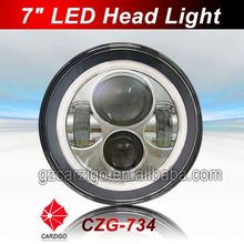"chinese fair show lowest price motorcycle 7"" round head light from manufacturer"