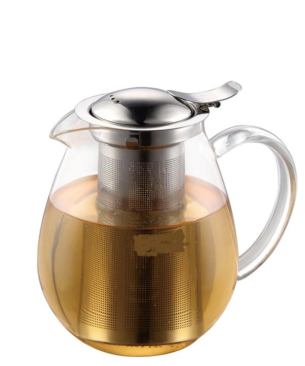 Haonai 0.8L instant hot water kettle borosilicate glass water pot with stainless steel filter