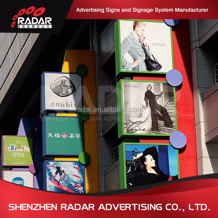 Different Style OEM advertising two sides led light box outdoor solar waste bin with galvanized steel