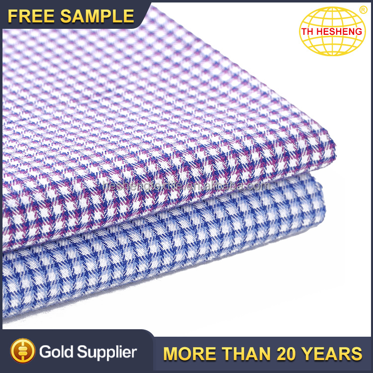 Top selling cheap custom 100% cotton plaid shirt fabric wholesale fashion cotton textile fabric