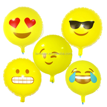 2016 aluminum foil customized air globo emoji ballon