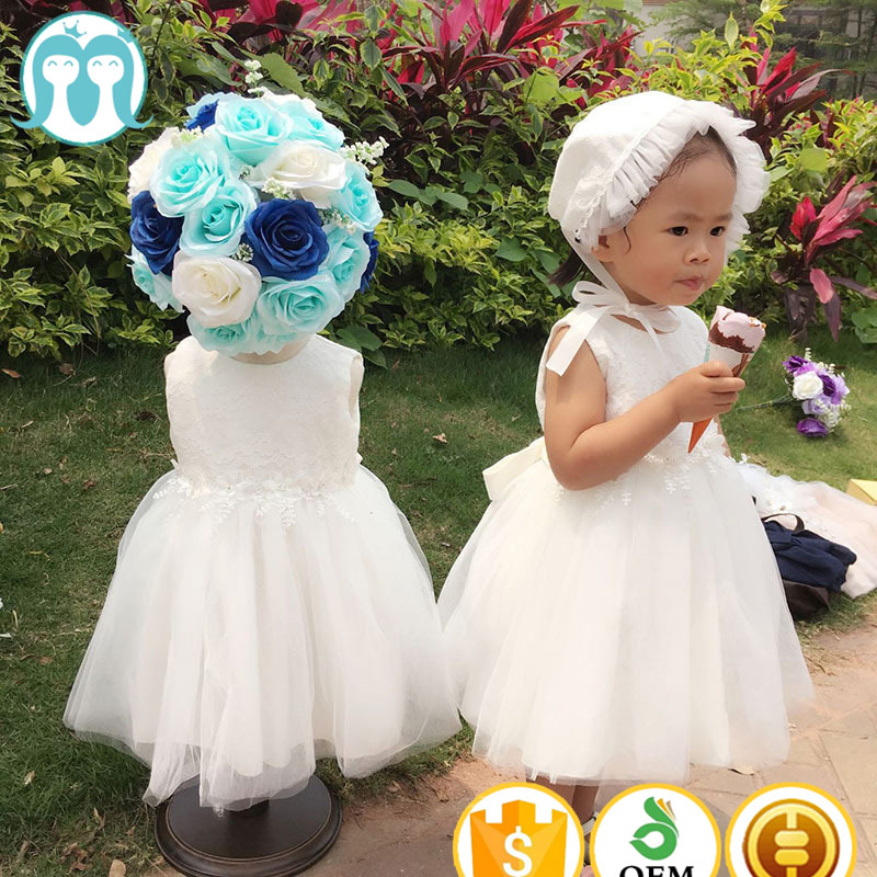 Newborn Toddler Girls Princess Baptism Dresses Baby Girl 1 Year Birthday Party Clothes Flower Christening Ball Gown