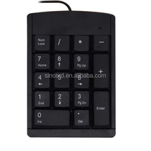 Newest private model 19 keys wired wireless bluetooth usb laptop numeric keyboard