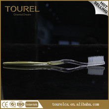 2017 toothbrush with toothpaste in handle disposable toothbrush adult use folding travel refillable toothbrush made in china