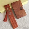 wood gift set of gift bookmark namecard case