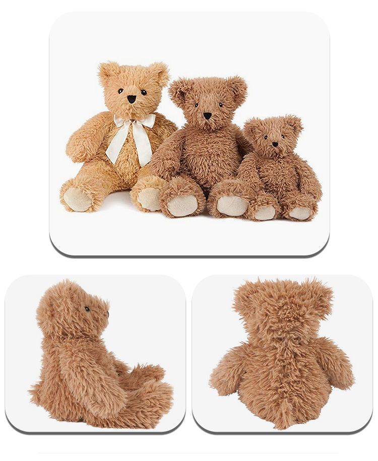 Ebabe wholesale custom high quality plush toy teddy bear skin,mini soft brown bear for kids gifts