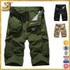 Black and army green 6 pocket summer work cargo shorts