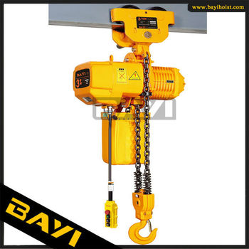 HBY 3T electric hoist,double chain falls