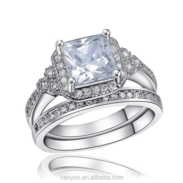 Kenyon 14k Gold Egyptian couple ring fashion jewelry wholesale Diamond Engagement Ring R162