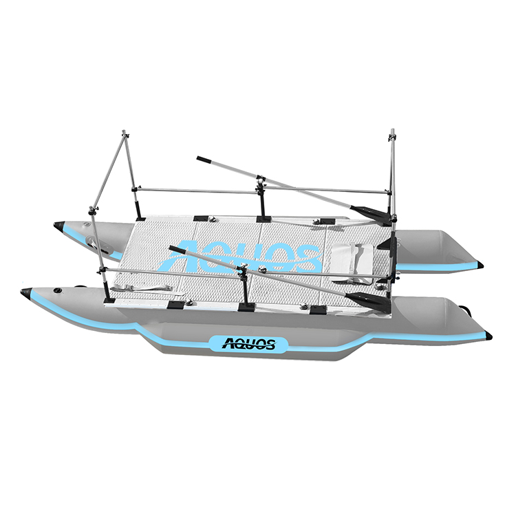 AQUOS PF-380 Inflatable Aluminum Floor Fishing <strong>Boat</strong>