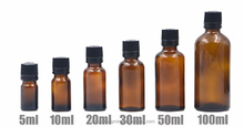 10ml 20ml 30ml 50ml Amber Glass Essential Oil Bottle with European Dropper Cap