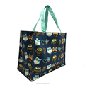 Custom print heavy duty cotton canvas shopping tote bag for grocery