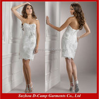 WD-889 Tight sexy short wedding dresses lace wedding dresses short