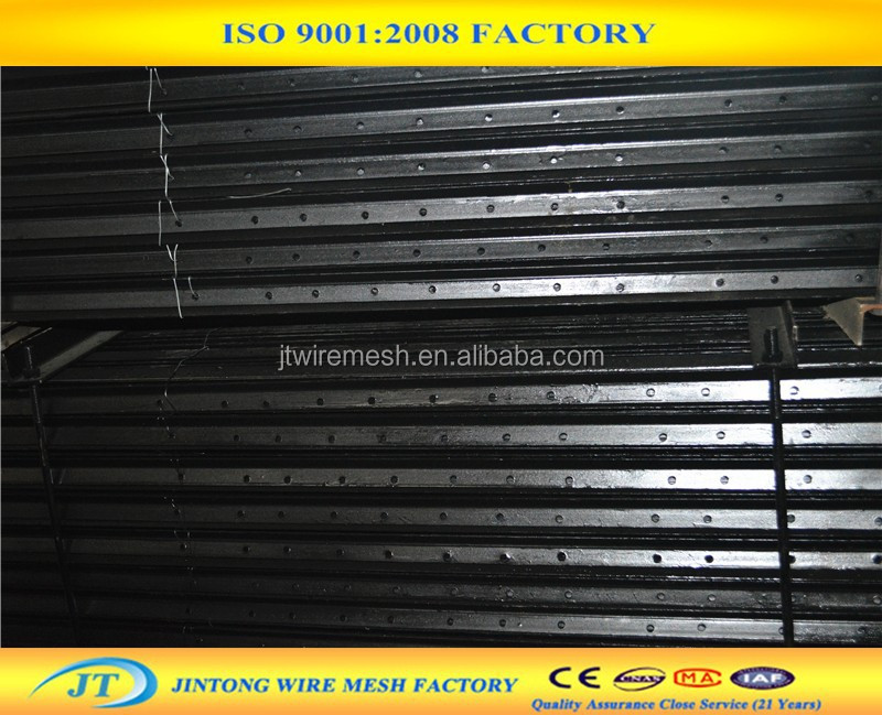 factory wholesale price black metal fence pole