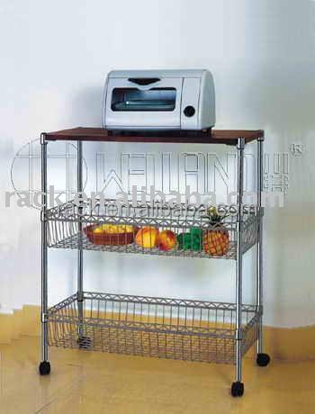 ... amichevole in metallo cromato filo da cucina carrello, k/d stile