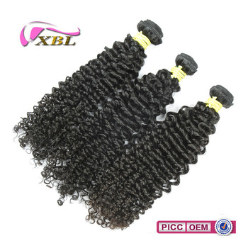 Natural Color kinky curly machine weft virgin indian human hair