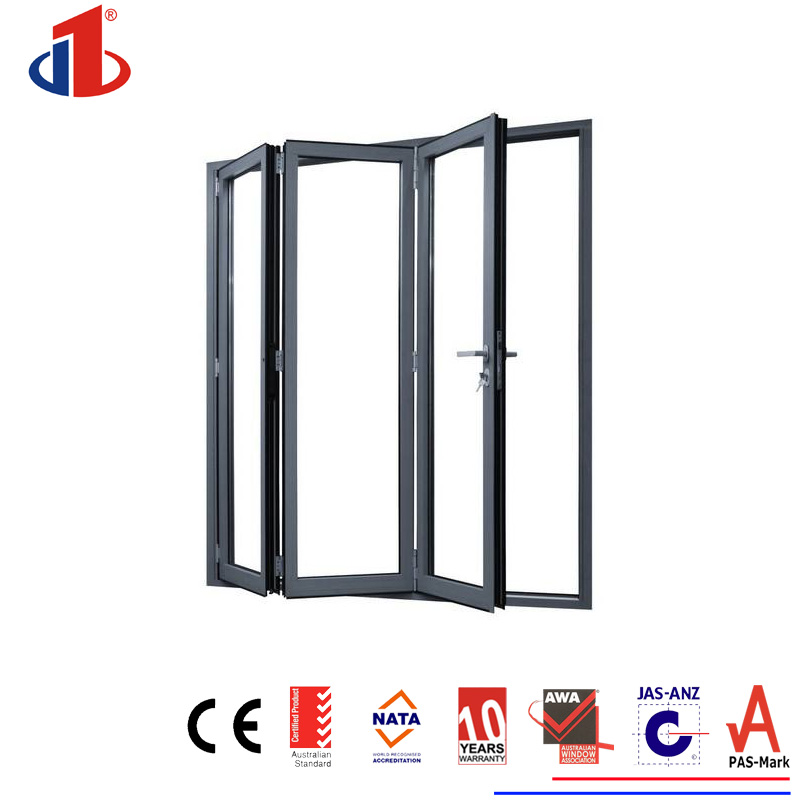 Thermal Break Double Glazing Luxury Tempered Safety Glass Bi-Folding Glass Door