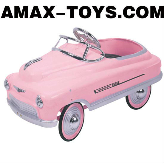 PC-113904 Steel pedal car Classic Steel Pink Comet Pedal Car for Kids (Ages 3-7)