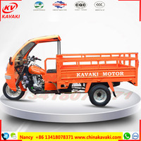 China KAVAKI sale heavy loading strong cargo 300cc three wheel motorcycle for africa