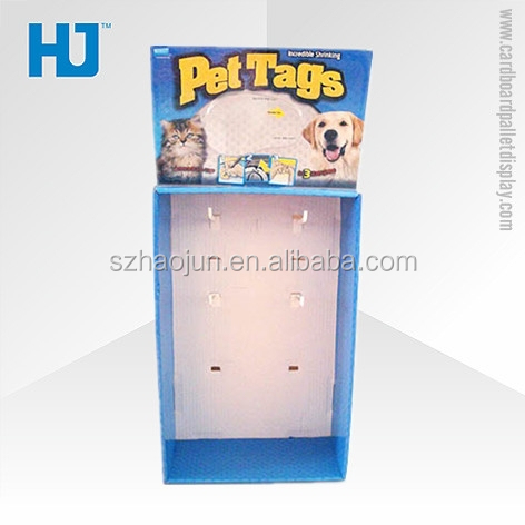 POP/POS Corrugated Paperboard Hooks Stand Supermarket Advertising Display Box for Pet/Cat/Dog Food