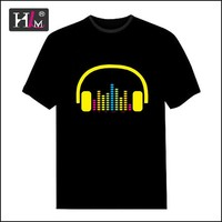 2015 new fashion design led t shirt wholesale