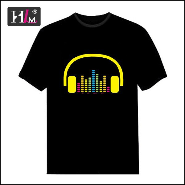 New design new fashion design led t shirt wholesale