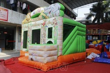 Zoo Designed Competition ball Games Inflatable Combo Jumping Playground Bounce with Slide for kids
