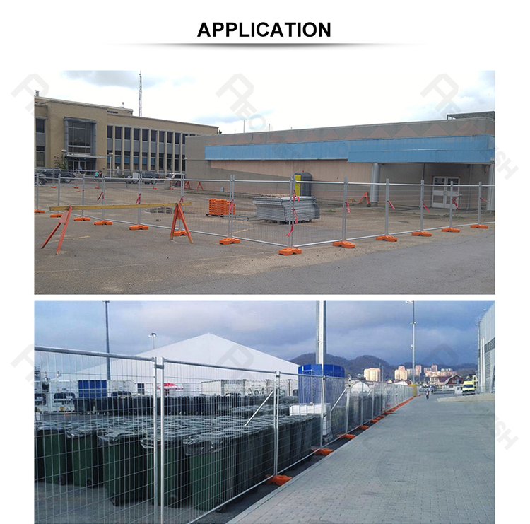 Galvanized steel fence portable construction fence for park