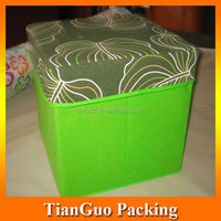non-woven foldable storage stool,folded storage box stool