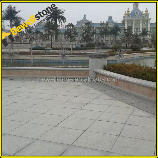 China Bewell Factory Wholesale Patio Pavers,plazas Crosswalks Yellow  Granite Pavement