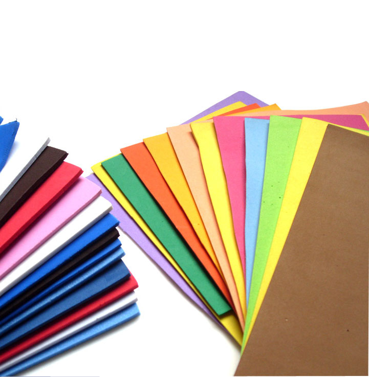 flexible elastic colorful EVA Sheet packing padding paper cutting raw material