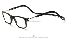 Adjustable Front Connect Reader hang neck click Magnetic Reading Glasses