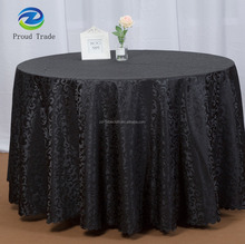 Unique black table cloth 120 round for wedding