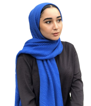 2019 fashion cotton pleated scarf high quality ridge hijab for women