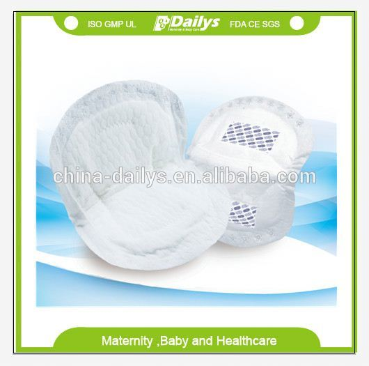 absorbent disposable breast pad/nursing pad with blue core