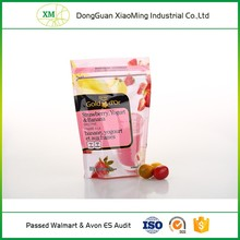 Factory supply customized printing OPP VMCPP plastic colored Zip lock bag